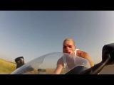 Езда на мотоцикле со скоростью 200 км в час без шлема