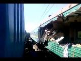 Столкновение поездов 20.05.2014  в Подмосковье. Два поезда - это мистер
