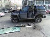 Два человека пострадали в серьезном ДТП на Садовом кольце (1.03.14.)